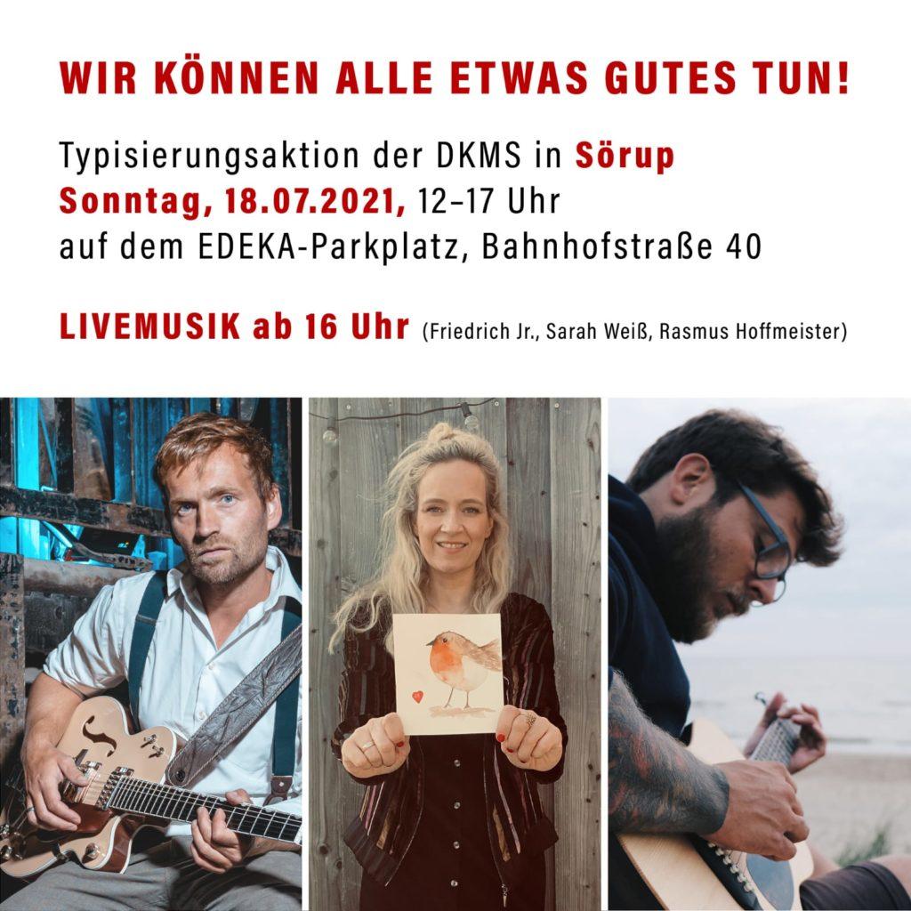 Typisierungsaktion Edeka Sörup Friedrich Jr. Rasmus Hoffmeister Sarah Weiss
