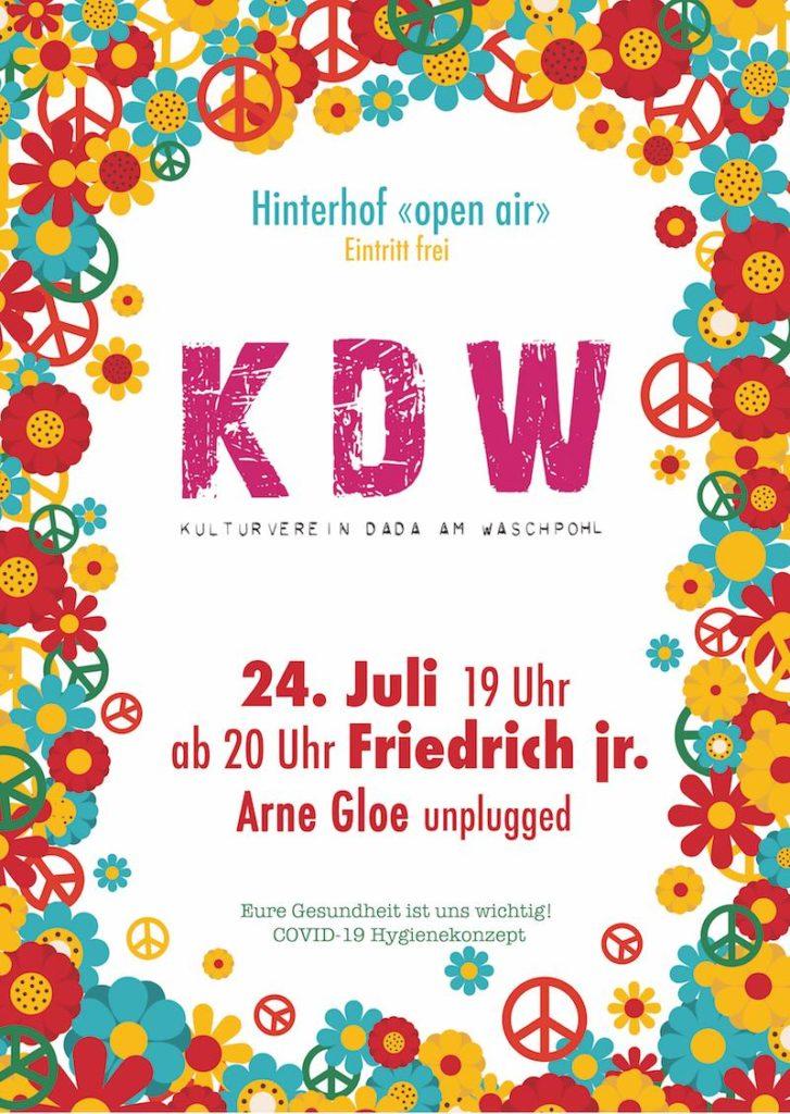 Friedrich Jr. Arne Gloe KDW Plakat